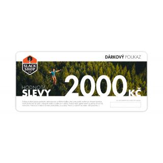 Dárkový poukaz na 2000 Kč