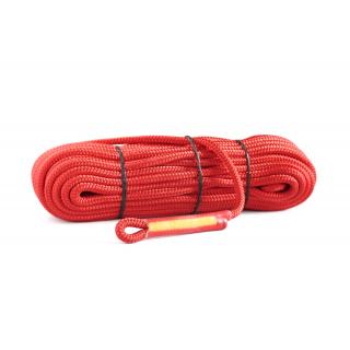Statické lano PES 8 mm červené