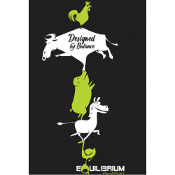 "Slackline T-Shirt ""Happy Animals"""