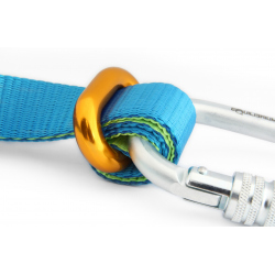 Linelocker with oval carabiner