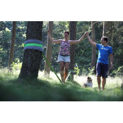 Perfect buddy for your first steps on slackline